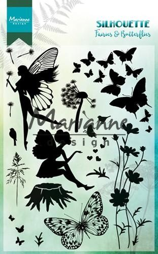 Clearstamps Marianne Design - Silhouette - Fairies & Butterflies