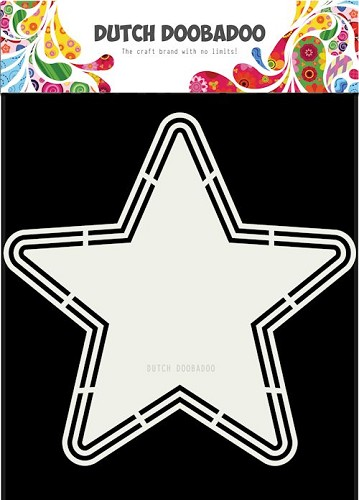 Dutch Doobadoo Stencil - Shape Art - star A4