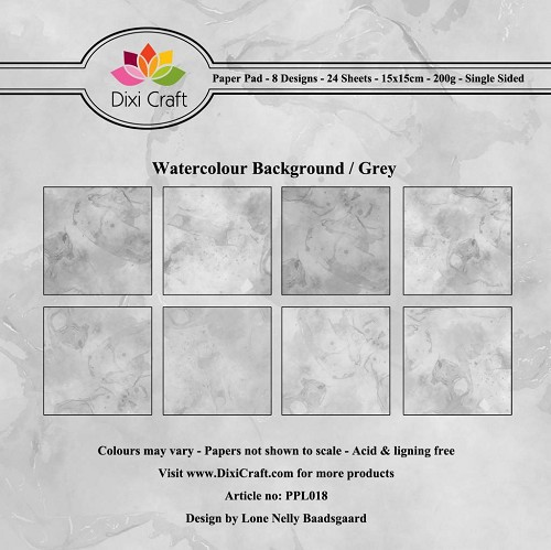 Paper Pad Dixi Craft - Watercolour Background - grey