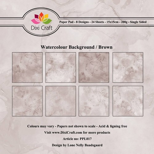 Paper Pad Dixi Craft - Watercolour Background - brown
