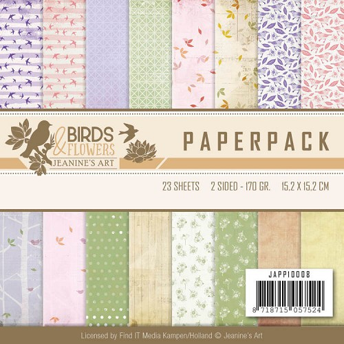 Paper Pack Jeanine`s Art - Birds and Flowers