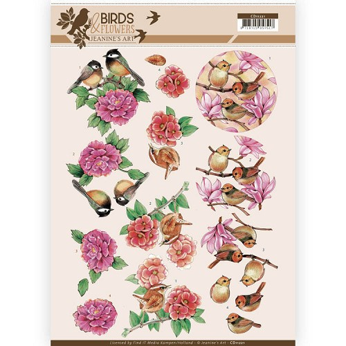 Knipvel Jeanine`s Art - Birds and Flowers CD11221