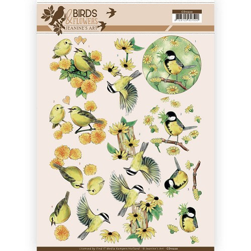 Knipvel Jeanine`s Art - Birds and Flowers CD11220