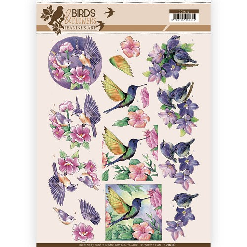 Knipvel Jeanine`s Art - Birds and Flowers CD11219