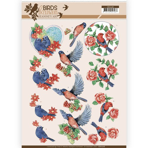 Knipvel Jeanine`s Art - Birds and Flowers CD11218