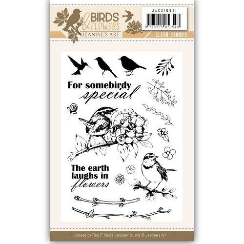 Clearstamps Jeanine`s Art - Birds and Flowers JACS10021