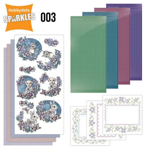 Hobbydots Sparkles Set 003 - Lovely Pets