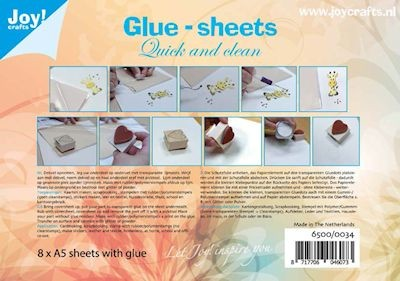 Joy Crafts Glue Sheets - A5 formaat