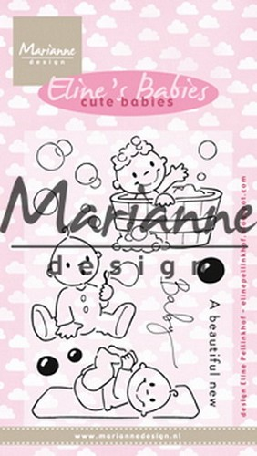 Clearstamps Marianne Design - Eline`s Babies - cute babies