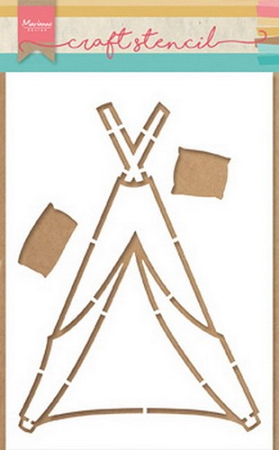 Marianne Design Craft Stencil - By Marleen - tipi