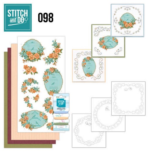Stitch and Do Pakket - floral birdcages