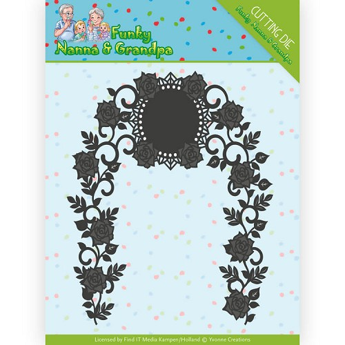 Yvonne Creations Stans - Funky Nanna & Grandpa - floral arch