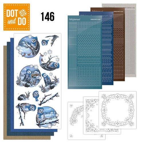 Dot & Do Hobbydots Pakket - winter owls
