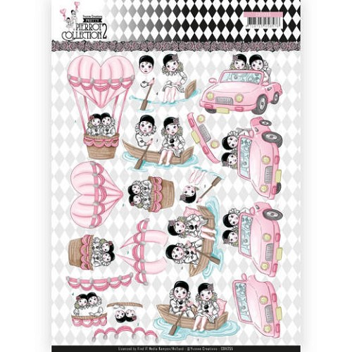 Knipvel Yvonne Creations - Pretty Pierrot 2 - CD11255