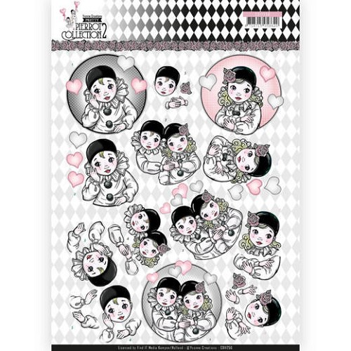 Knipvel Yvonne Creations - Pretty Pierrot 2 - CD11256