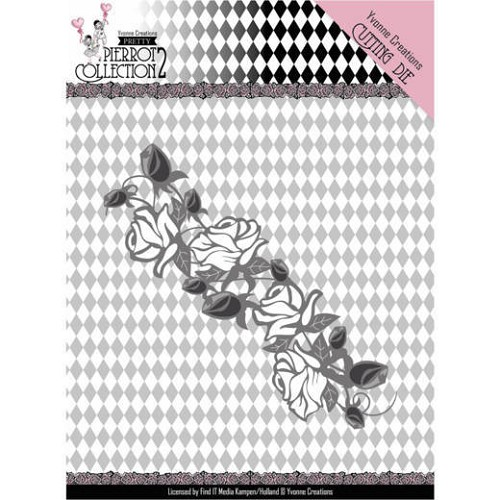 Yvonne Creations Stans - Pretty Pierrot 2 - rose border