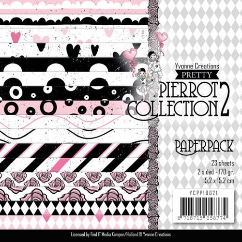 Paper Pad Yvonne Creations - Pretty Pierrot 2