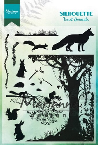 Clearstamps Marianne Design - Silhouette - forest animals