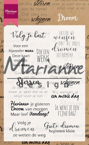 Clearstamps Marianne Design - Droom