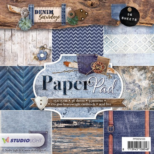 Studio Light Paper Pad - Denim Saturdays nr. 103