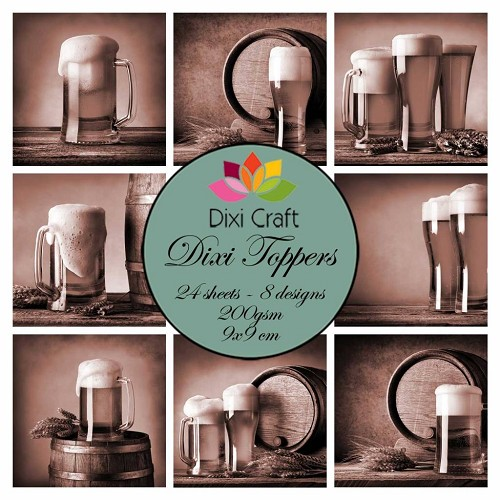 Dixi Craft Toppers - bier sepia