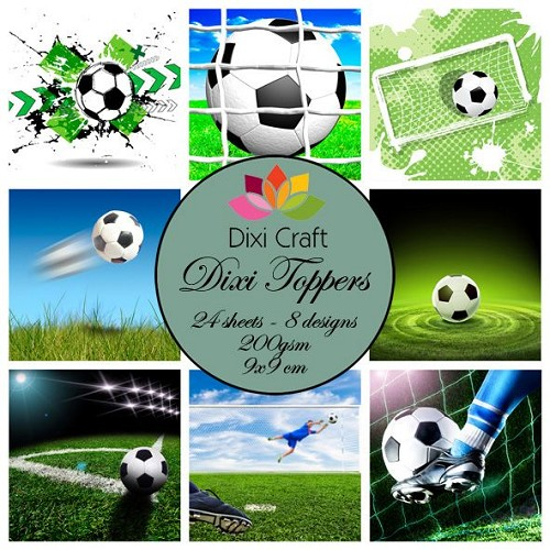 Dixi Craft Toppers - voetbal