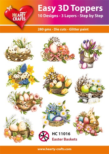 Easy 3D Toppers - Easter Baskets
