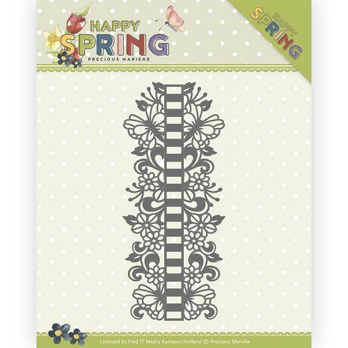Precious Marieke Stans - Happy Spring - ribbon border