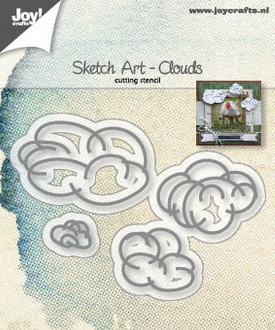 Joy Stencil - Sketch Art - clouds
