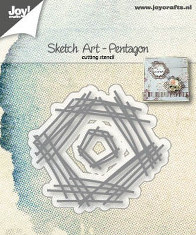 Joy Stencil - Sketch Art - pentagon
