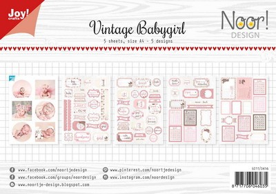 Joy Label Sheets - vintage baby girl