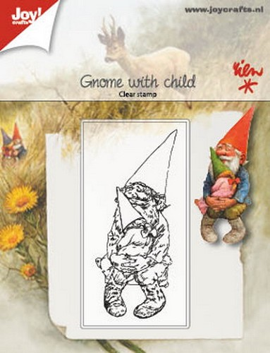 Joy Clearstamp - Rien Poortvliet - gnome with child
