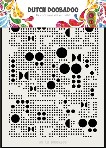 Dutch Doobadoo Mask Stencil - various dots A5