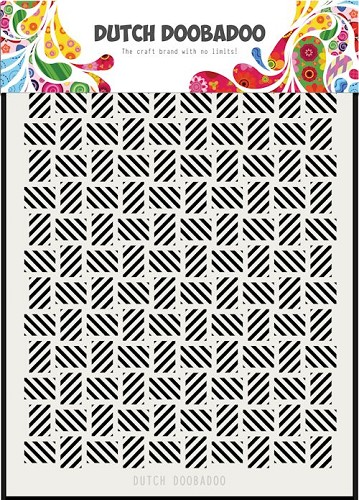 Dutch Doobadoo Mask Stencil - stripe pattern A5