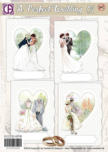 Creatief Art Kaartenpakket - A Perfect Wedding 01