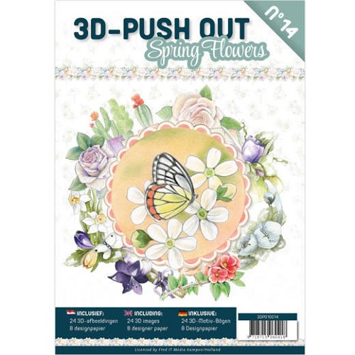 3D Push Out Book - spring flowers