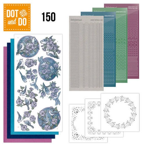 Dot & Do Hobbydots Pakket - birds in purple