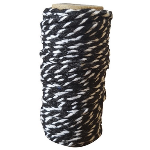 Card Deco Essentials - bakers twine - black/white