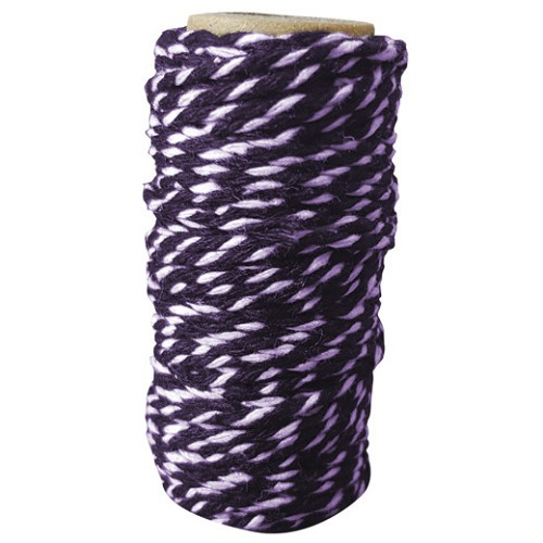 Card Deco Essentials - bakers twine - purple/white