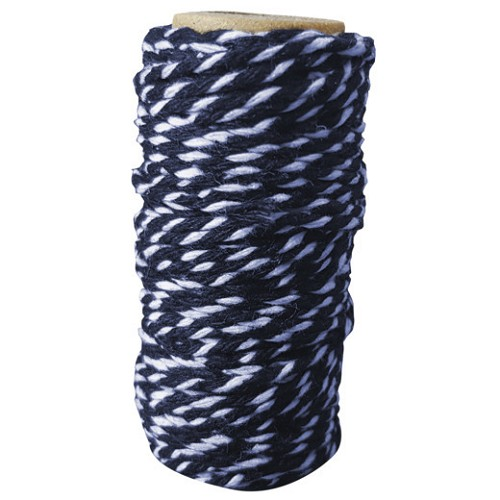 Card Deco Essentials - bakers twine - blue/white