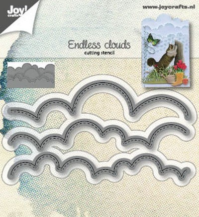 Joy Stencil - endless clouds