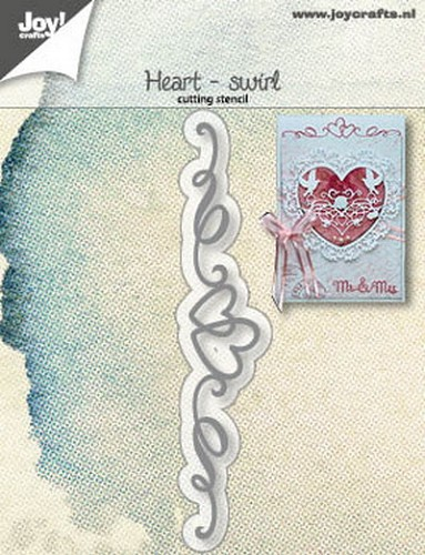 Joy Stencil - heart swirl