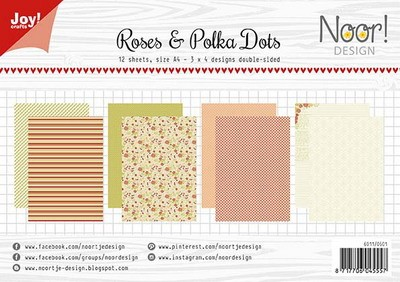 Joy Paper Pack - Roses & Polka Dots