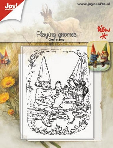 Joy Clearstamp - Rien Poortvliet - playing gnomes