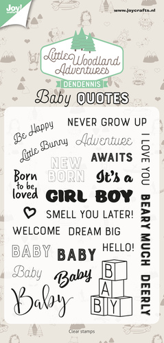 Joy Clearstamps - DenDennis Little Woodland Adventures - baby quotes