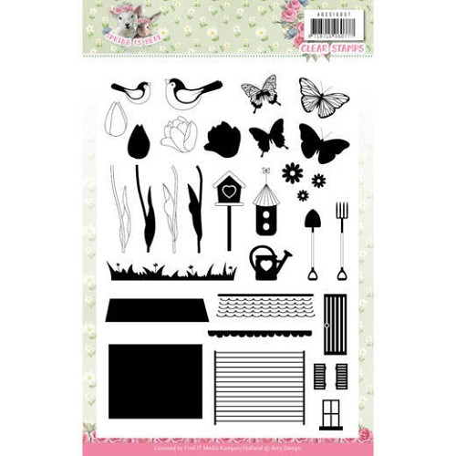 Clearstamps Amy Design - Spring is Here