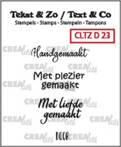 Crealies Clearstamps - Tekst & Zo - divers 23