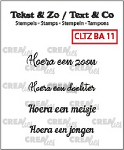 Crealies Clearstamps - Tekst & Zo - baby 11