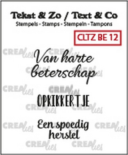 Crealies Clearstamps - Tekst & Zo - beterschap 12