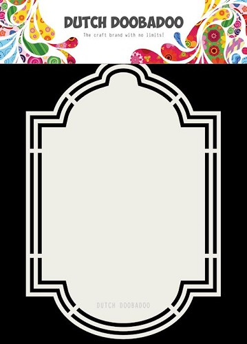 Dutch Doobadoo Stencil - Shape Art - Label 6 (A5)